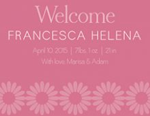 Francesca's Baby Announcement